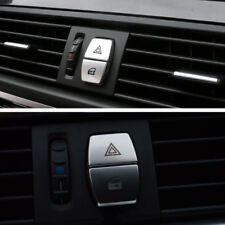 2PCS ABS Control Warning Light Button Decor Cover Sticker For BMW 5/6/7 series