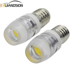 2pcs Lamp LED Bulb 12V Volt 4300K MES E10 High Power 2W 1447 Screw for Torch