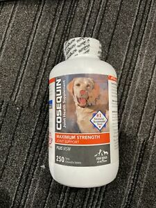 Cosequin Maximum Strength Plus MSM for Dogs All Sizes 250ct - Expires 5/2023