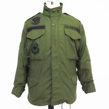 VINTAGE ORIGINAL US AIR FORCE USAF 1982 M-65 M65 FIELD JACKET PATCHES S SHORT