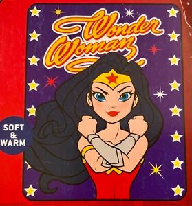 DC Super Heroes Wonder Woman Silky Soft Throw Blanket 40 X 50 Inches