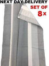 New Grey Stripe Via Mondo Universal Caravan Awning Curtains 8pcs 134cm X 90cm
