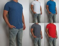 NWT HOLLISTER Men Must Have Slim Crew Neck tag less T Shirt Tee By Abercrombie