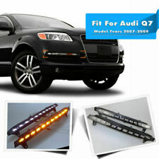 22-LED DRL Headlight Pair For Audi Q7 Fog Lamp w/Turn Signal Running Light 07-09
