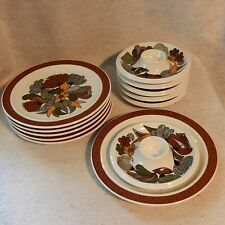 Camargue  Set 12 Mid Century Modern Egg Cup Plates Thomas Rosenthal Porcelain