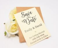 Personalised Wedding Save the Date Cards with Envelopes Magnetic