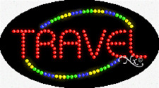 "Brand New ""Travel"" 27x15 Oval Solid/Animated Led Sign w/Custom Options 24082"