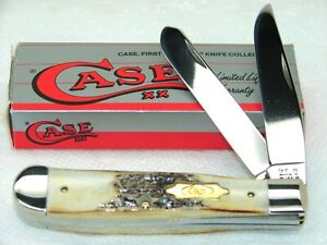 CASE XX USA,1991, 5254 TRAPPER KNIFE, WINSTON CUP & SUPER STAG, NICE & MINT