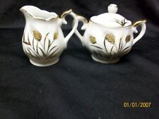 Norcrest L-239 Sugar Bowl & Creamer Made In Japan Miniature Child'S Play Set