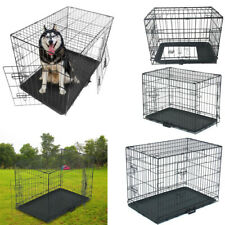Dog Cage Pet Puppy Crate Carrier Home Folding Door Training Kennel XS-XXL UK New