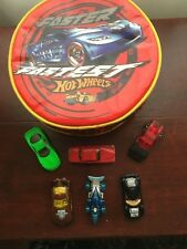 """Hot Wheels Insulated Lunch Bag """" Faster Fastest """" + 6 x  Diecast Models"""