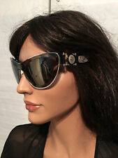 $560 NIB Authentic VERSACE Runway Medusa Cat Eye Sunglasses 2162 1252/4T