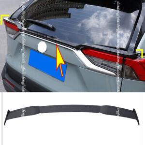 For Toyota RAV4 2019-21 Carbon Fiber Rear Trunk Spoiler Tail Middle Lid Wing Lip