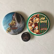 3 Disney Disneyland Buttons -- Cars 3, Chip 'n Dale Critter Breakfast, Studio