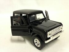 """1973 FORD BRONCO HARD TOP, 5"""" DIECAST 1:32 PULL BACK JADA TOY, JUST TRUCK BLACK"""