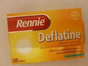 DEFLATINE - EFFECTIVE RELIEF FROM PAIN & DISCOMFORT OF TRAPPED WIND -18 TABS