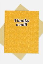 Typo Unisex Thank You Card Cards  In  Multicoloured
