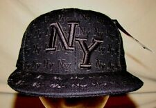 Leader Sports Cap Black New York Cap Hat NWT Size Large 100% Acrylic