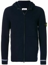 Stone Island Hooded Cardigan knit In Navy BNWT