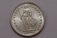 SWITZERLAND 2 FRANCS 1944 SILVER HIGH GRADE B30 #Z4720