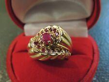Bague ancienne or 18 carats et rubis