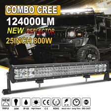 New Triple Rows 800W CREE 25Inch Combo LED Light Bar Flood Spot Driving 22/24''