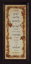 SERENITY PRAYER by Linda Spivey 11x23 FRAMED PRINT Inspirational Sign Religious