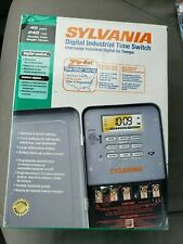Sylvania Digital Industrial Time Switch  40Amp 240 Volt -Double-Pole  Outdoor