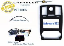 Chrysler 300 Double Din Dash Kit w/ Steering Wheel Wire Harness Interface Radio