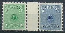 Philippines 1950 Sc# C71-72 Airmail Lions club gutter pair MNH