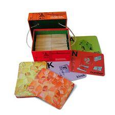 Hungry MENTI A-Z schede flash e blocchi di legno Set