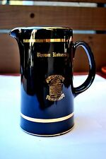 "Large 8.75"" Black & Gold Brown University Beer Pitcher W. C. Bunting Co."