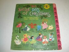 GOLDEN RECORDS 45 RPM  THE 12 DAYS OF CHRISTMAS GOLDEN CHORUS AND ORCHESTRA WORK