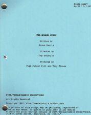 """THE GOLDEN GIRLS script """"Pilot."""""""
