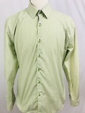 Stone Rose Mens Shirt Size XL 5 Button Front Rivet Collection Striped (W