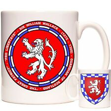 SIR WILLIAM WALLACE COAT OF ARMS MUG Dishwasher and Microwave Safe. Heraldry