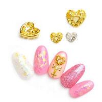 2Pcs/set Hollow-out Heart Shape 3D Nail Art Decoration Sweet Manicure DIY Tips