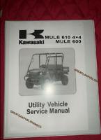 2005 Kawasaki mule 610 4x4 UTILITY UTV  Workshop service manual Binder KAF400