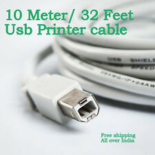 10 Meter 32F USB 2.0 A Male to B Male Moulded Printer Scanner Cable 10M