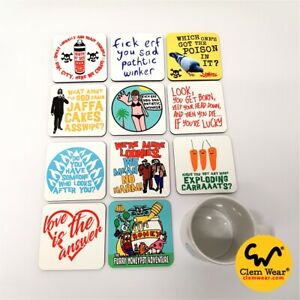 Bottom COASTERS Rik Mayall t-shirt inspired funny Young Ones comedy UK retro fun