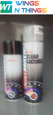 AEROSOL SPRAY PAINT 400ML + LACQUER FOR DUCATI MOTORCYCLE COLOUR BRIGHT RED