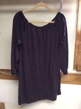 Mark. Women's Size Large Eggplant Purple Long Sleeve Scoop Neck Tunic Top