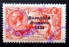 Irlanda 1922 Caballito de mar 5/- fino/usado NC14
