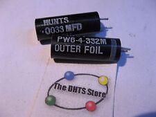 Hunts PW6-4-332 Capacitor .0033 uF 400VDC 0.0033 - NOS Qty 2
