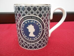 FINE BONE CHINA MUG HALCYON DAYS CUP COMMEMORATE QUEEN'S DIAMOND JUBILEE 2012