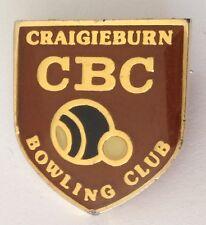 Craigieburn Bowling Club Badge Pin Vintage Lawn Bowls (L29)