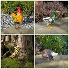 Colourful Animal Garden Ornaments Indoor/Outdoor Farmyard Animal Metal Sculpture