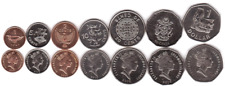 Solomon set 7 coins 1 2 5 10 20 50 Cents 1 Dollar 2005 - 2010 Unc / aUnc
