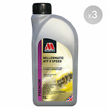 Millers Oils Millermatic ATF 8SP Automatic Transmission Fluid - 3 x 1 Litre 3L