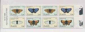 LO37743 Aland 1994 insects bugs butterflies good booklet MNH